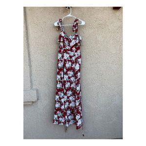 Petro Floral Print A Line Maxi Dress Celine